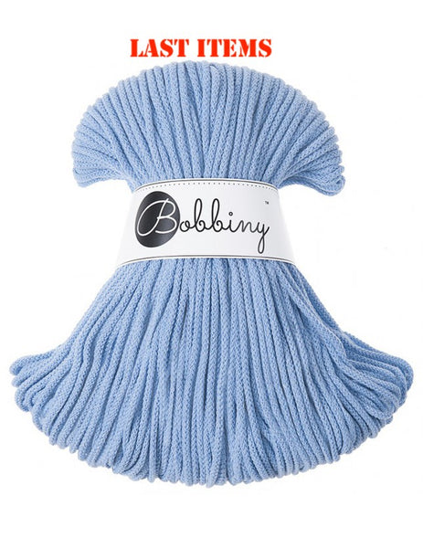*Bobbiny 3mm BABY BLUE Cotton Cord 100m