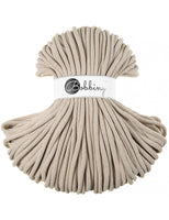 Bobbiny 9mm Beige Cotton Cord 100m