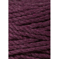 Bobbiny 5mm BLACKBERRY 3ply Macrame Cord 100m