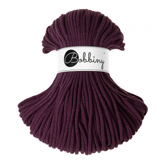 Bobbiny 5mm BLACKBERRY Braided Cord 100m