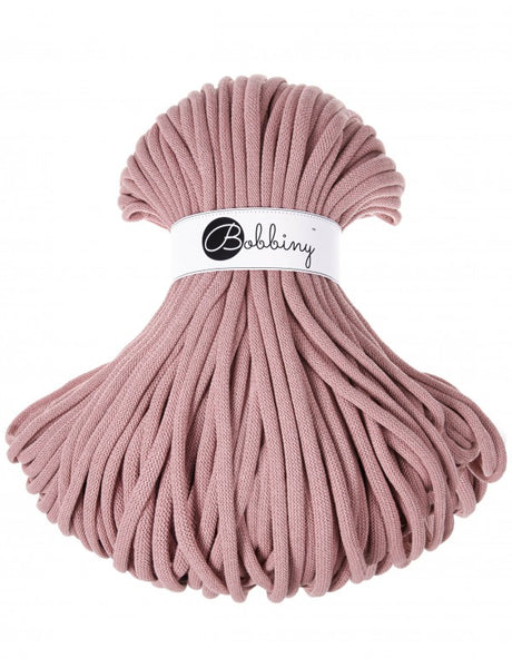 Bobbiny Jumbo 9mm DUSTY PINK Braided Cord 10m
