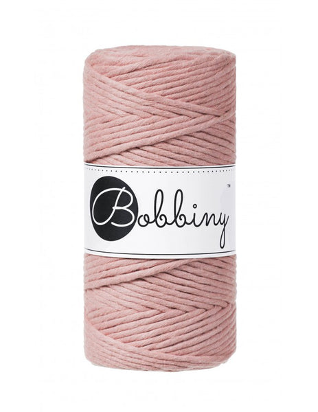 Bobbiny 3mm BLUSH Single Twist Macrame Cord 100m