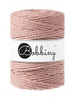 Bobbiny 5mm BLUSH 3ply Macrame Cord 100m