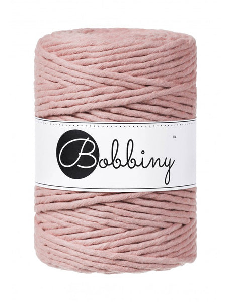 Bobbiny 5mm BLUSH Single Twist Macrame Cord 100m