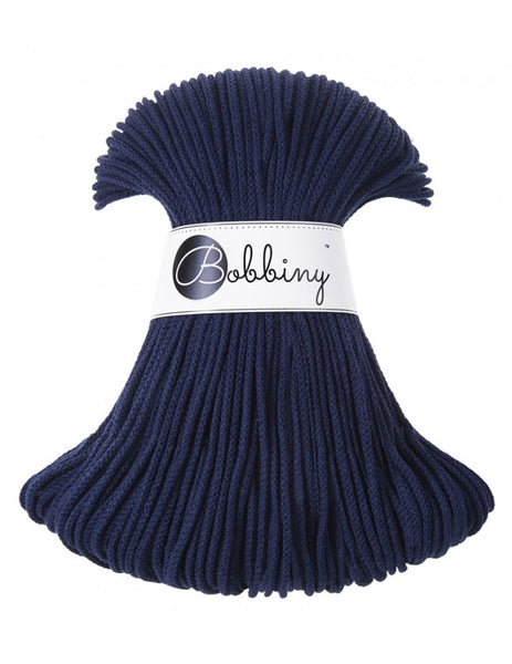 Bobbiny 3mm NAVY BLUE Cotton Cord 100m