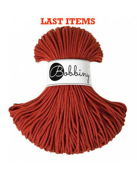 *Bobbiny 3mm BURNT ORANGE Cotton Cord 100m