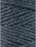 Bobbiny 3mm CHARCOAL Single Twist Macrame Cord 100m
