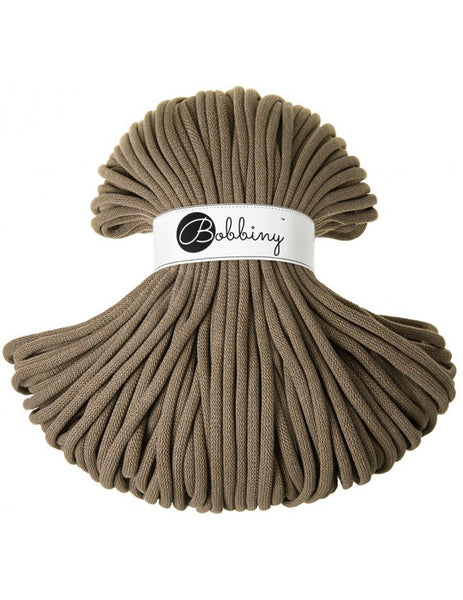 Bobbiny Jumbo 9mm COFFEE Cotton Cord 100m