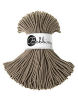 Bobbiny 3mm COFFEE Cotton Cord 100m
