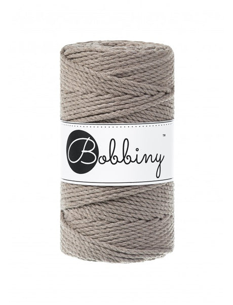 Bobbiny 3mm COFFEE 3ply Macrame Cords 100m LAST ITEMS!