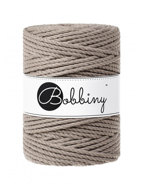 Bobbiny 5mm COFFEE 3ply Macrame Cord 100m LAST ITEMS!