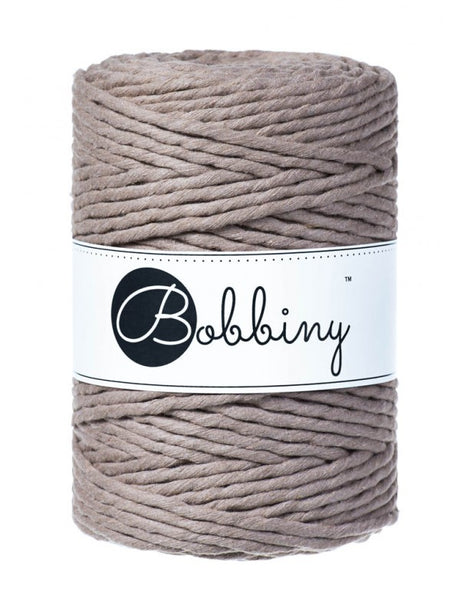 Bobbiny 5mm COFFEE Single Twist Macrame Cord 100m LAST ITEMS!