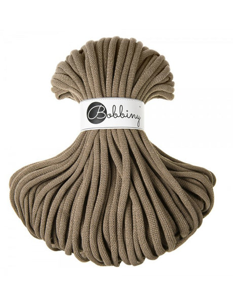 Bobbiny Jumbo 9mm COFFEE Cotton Cord 50m