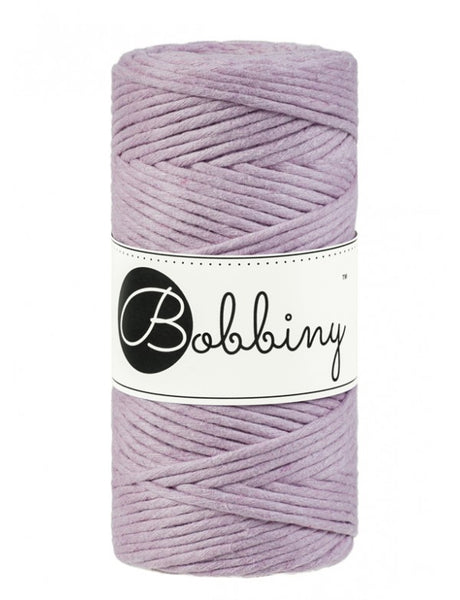 Bobbiny 3mm DUSTY PINK Single Twist Macrame Cord 100m