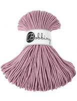 Bobbiny 3mm PINK DUSTY Cotton Cord 100m