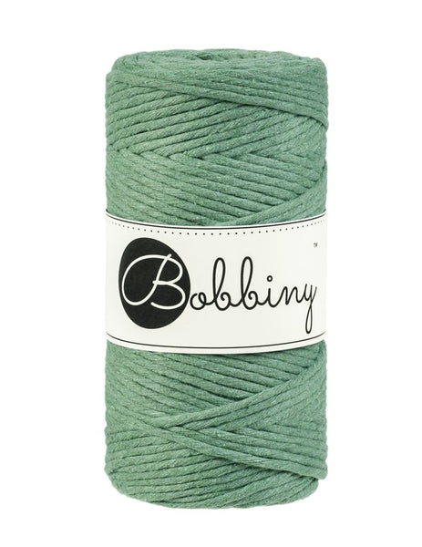 Bobbiny 3mm EUCALYPTUS Single Twist Macrame Cord 100m