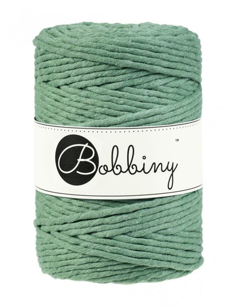 Bobbiny 5mm EUCALYPTUS Single Twist Macrame Cord 100m