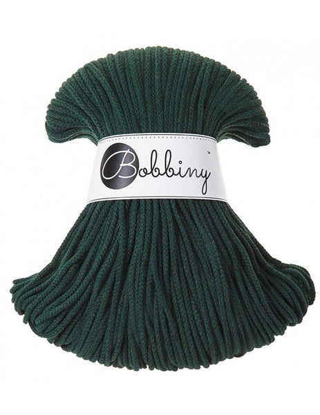 *Bobbiny 3mm FOREST GREEN Braided Cord 100m