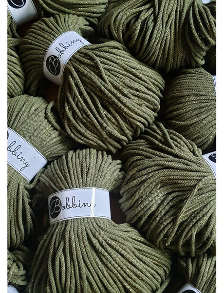 Bobbiny 5mm GOLDEN AVOCADO Cotton Cord 100m