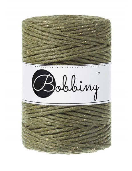 Bobbiny 5mm GOLDEN AVOCADO Single Twist Macrame Cord 100m