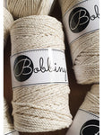 Bobbiny 3mm GOLDEN NATURAL 3ply Macrame Cords 100m