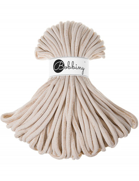 Bobbiny Jumbo 9mm GOLDEN NATURAL Cotton Cord 50m