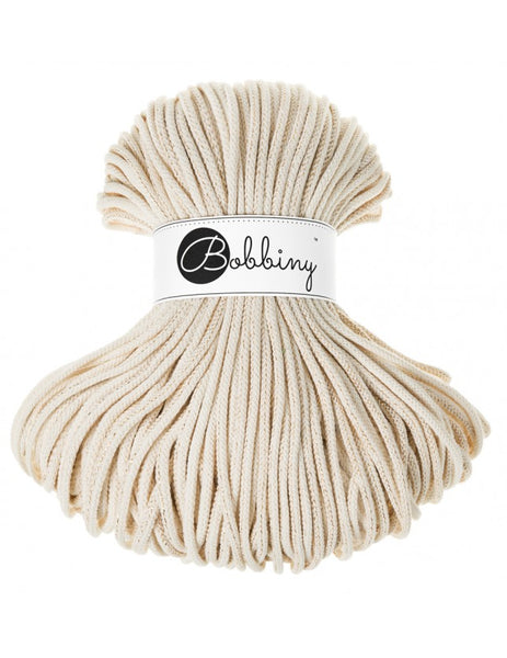 Bobbiny 5mm GOLDEN NATURAL Braided Cord 100m