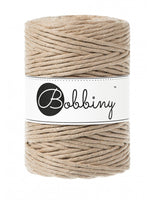 Bobbiny 5mm GOLDEN SAND Single Twist Macrame Cord 100m