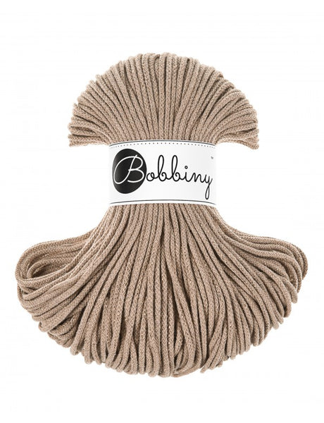 Bobbiny 3mm GOLDEN SAND Cotton Cord 100m