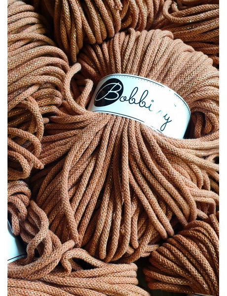 Bobbiny 5mm GOLDEN TERRACOTTA Cotton Cord 100m