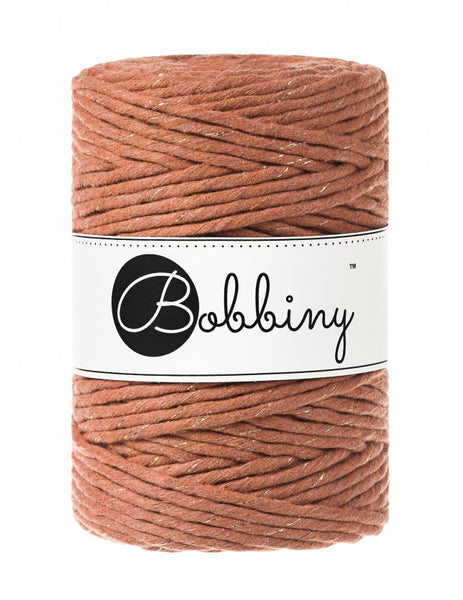 *Bobbiny 5mm GOLDEN TERRACOTTA Single Twist Macrame Cord 100m