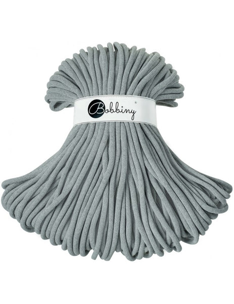 Bobbiny 9mm Grey (Discontinued) Cotton Cord 100m