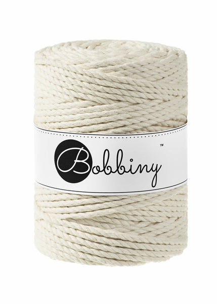 Bobbiny 5mm NATURAL 3ply Macrame Cord 100m