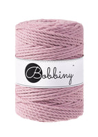 Bobbiny 5mm DUSTY PINK 3ply Macrame Cord 100m