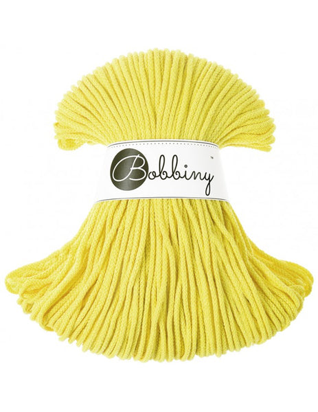 *Bobbiny 3mm LEMON Braided Cord 100m