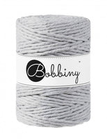 Bobbiny 5mm LIGHT GREY Single Twist Macrame Cord 100m