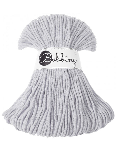 Bobbiny 3mm GREY LIGHT Cotton Cord 100m