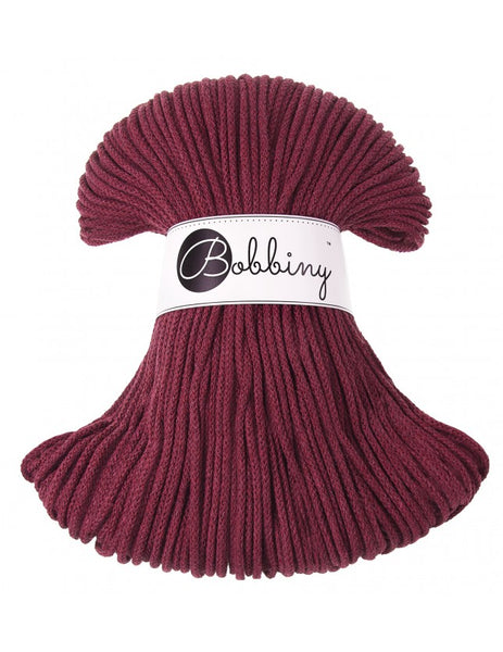 *Bobbiny 3mm MAROON Braided Cord 100m
