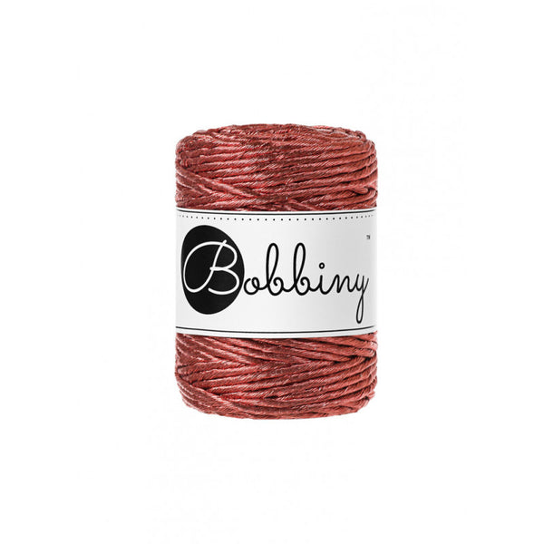 Bobbiny 3mm METALLIC COPPER Single Twist Macrame Cord