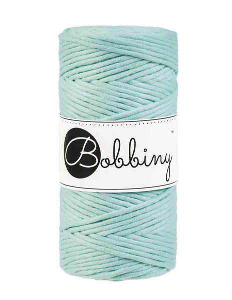 Bobbiny 3mm MINT Single Twist Macrame Cord 100m