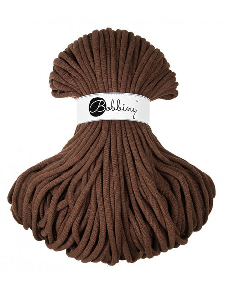 Bobbiny Jumbo 9mm MOCHA Braided Cord 10m