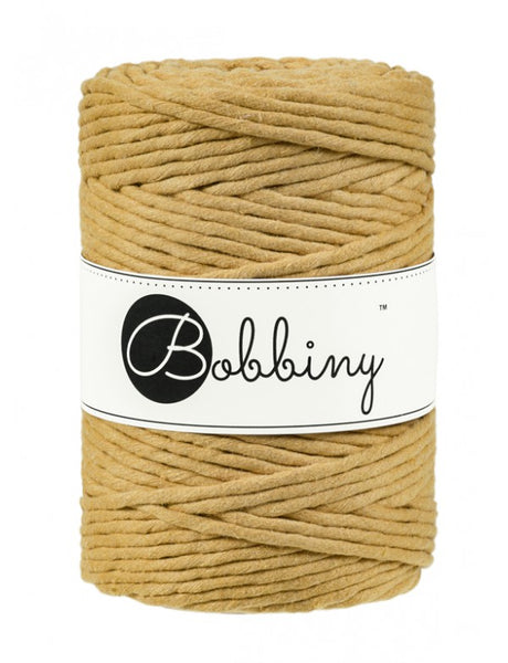 Bobbiny 5mm MUSTARD Single Twist Macrame Cord 100m