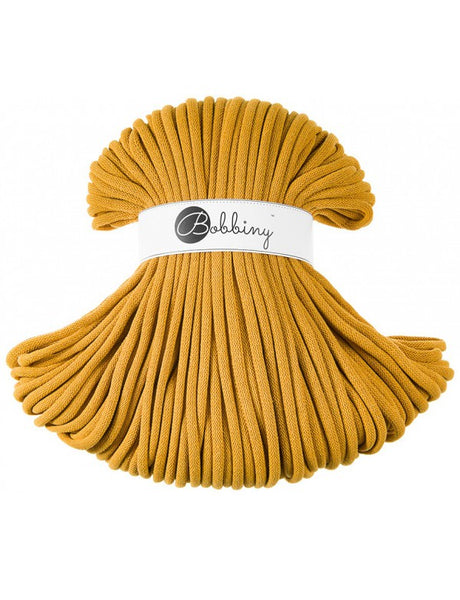 Bobbiny Jumbo 9mm MUSTARD Cotton Cord 100m