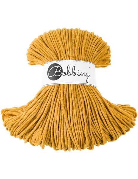 Bobbiny 3mm MUSTARD Cotton Cord 100m