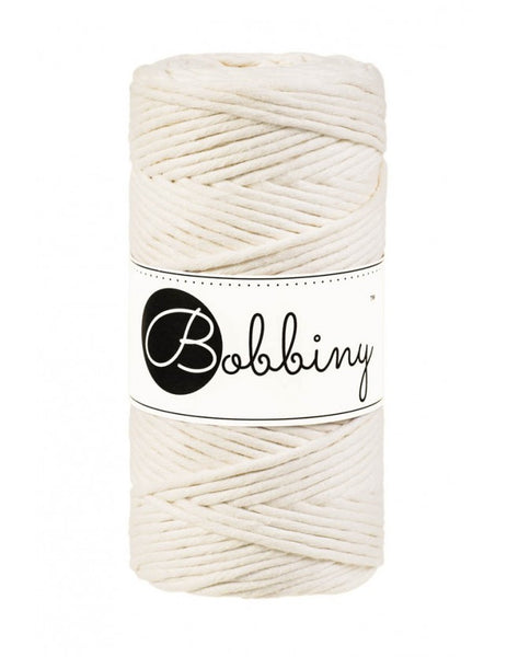 Bobbiny 3mm NATURAL Single Twist Macrame Cord 100m