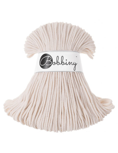 Bobbiny 3mm NATURAL Cotton Cord 100m