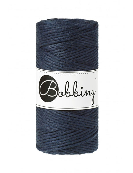 Bobbiny 3mm NAVY BLUE Single Twist Macrame Cord 100m