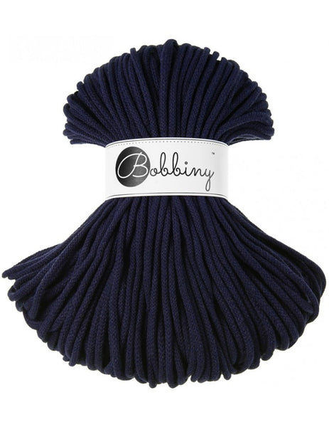 Bobbiny 5mm NAVY BLUE Cotton Cord 100m