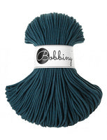 Bobbiny 3mm PEACOCK BLUE Braided Cord 100m