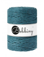 Bobbiny 5mm PEACOCK BLUE Single Twist Macrame Cord 100m